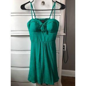Linen green dress